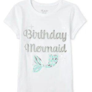 5/$25 TCP Birthday Mermaid Foil Graphic T-Shirt